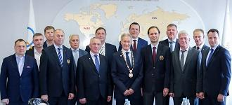 IHF President visits Minsk for the opening of Sports and Games Complex