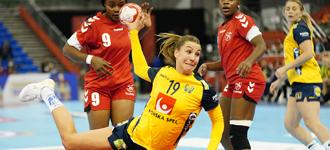 Swedes defeat DR Congo after first quarter scare