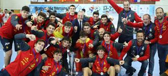 Spain men champions of the Mediterranean