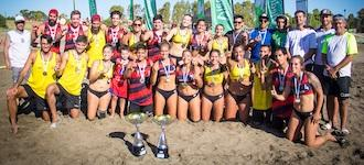 Neuquén's IFES celebrate beach handball double at inaugural Copa Argentina