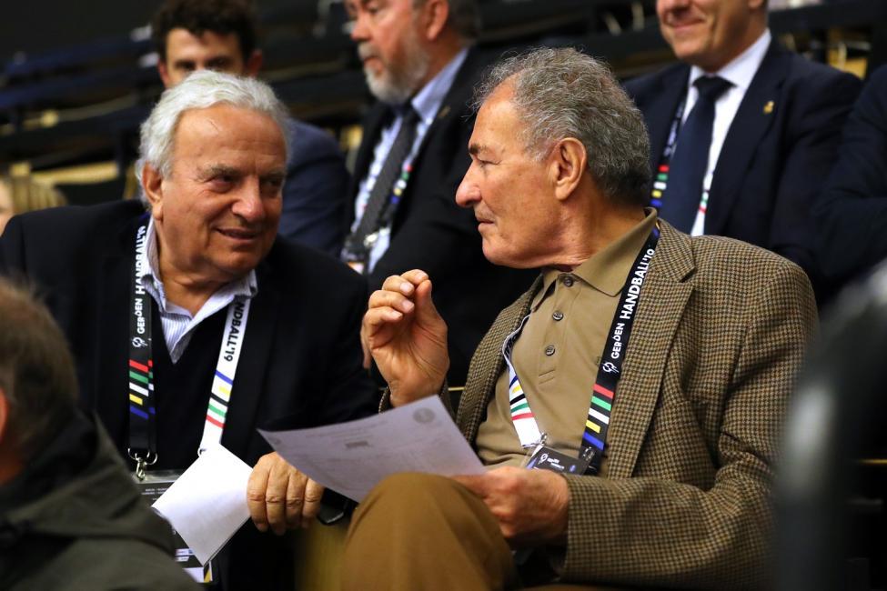 Dr Moustafa with Francesco Ricci Bitti