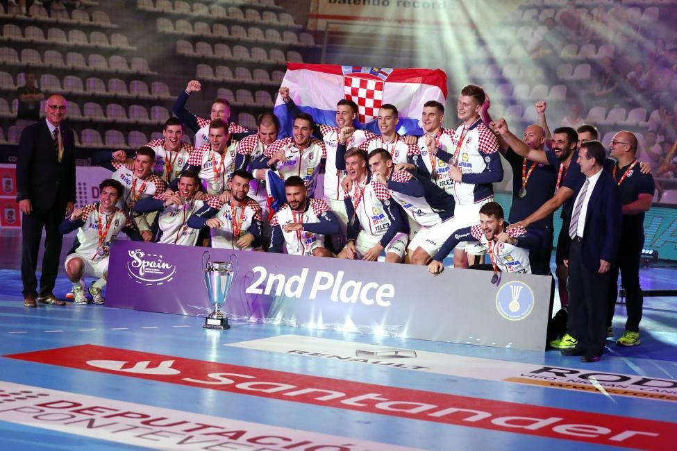 Silver medallists Croatia