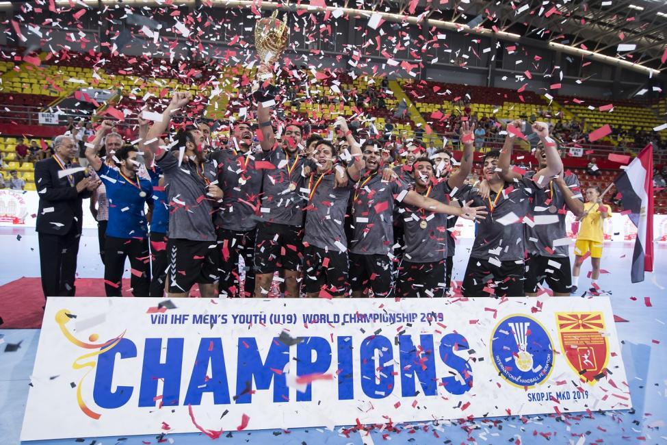 World champions Egypt