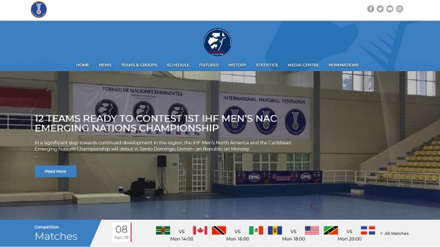 Follow the 1st IHF Men's NAC Emerging Nations Championship on competition.ihf.info