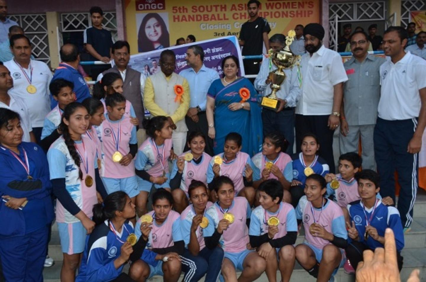 India win 5th Women's South Asian Handball Championship
