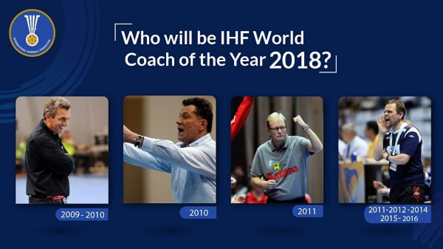 World Coach of the Year 2018 nominees announced