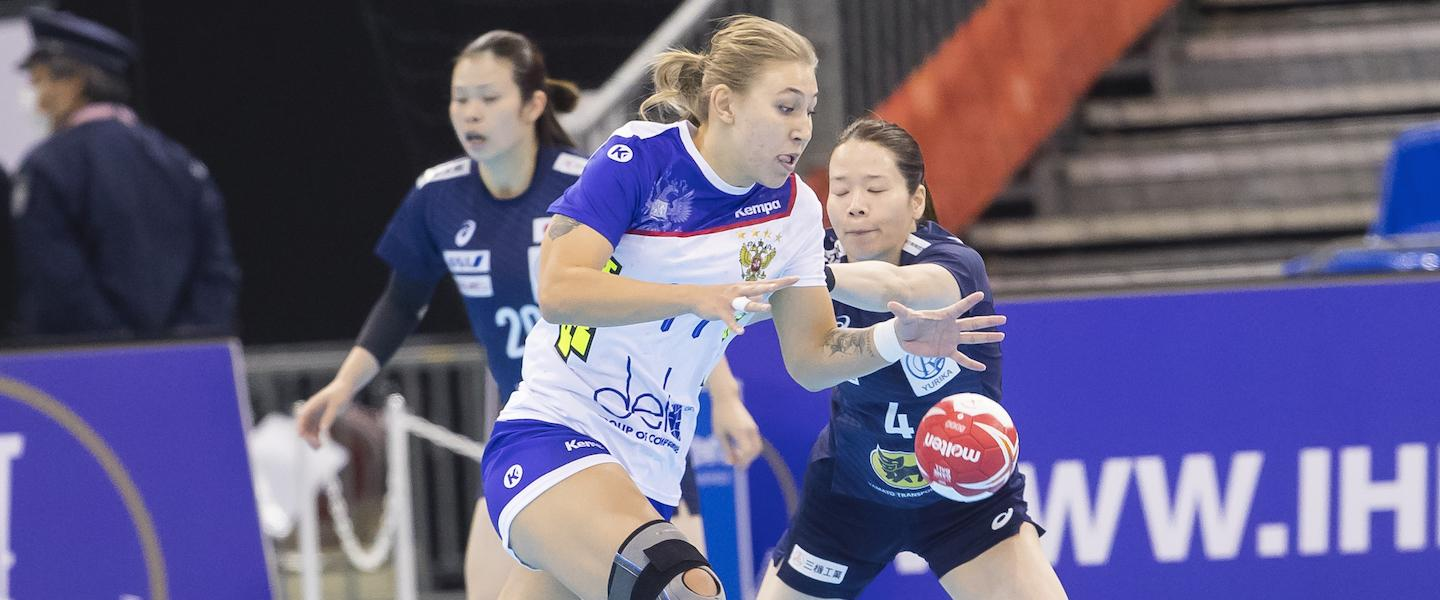 Russia defeat Japan after tough first half
