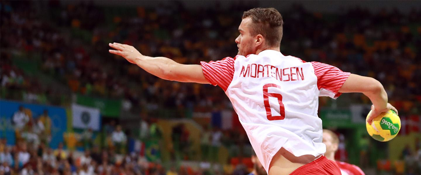 Mortensen represents handball in Olympian-led workout